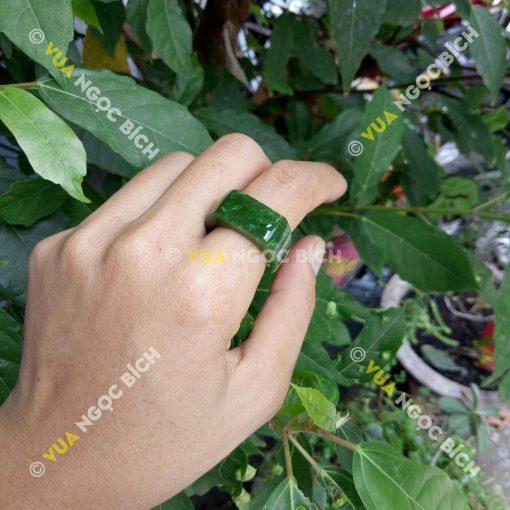 Nhẫn Yên Ngựa Ngọc Bích Nephrite Jade (NN031)