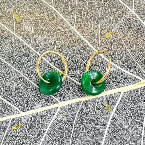 Bông Tai Ngọc Bích Nephrite Jade (BT066)