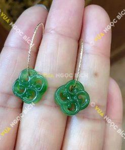 Bông Tai Ngọc Bích Nephrite Jade (BT071)