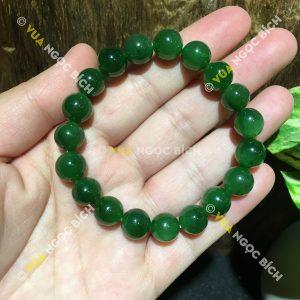 Chuỗi Vòng Tay Ngọc Bích Nephrite Jade 10mm (VT018)