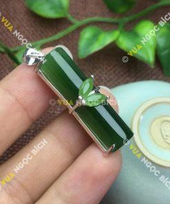 Mặt Dây Đốt Trúc Ngọc Bích Nephrite Jade (MD089)