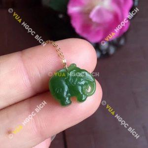 Mặt dây Ngọc Bích Nephrite Jade (MD086)