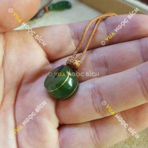 Mặt Dây Đồng Điếu Ngọc Bích Nephrite Jade (MD087)
