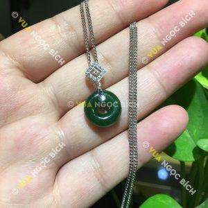 Mặt Dây Đồng Điếu Ngọc Bích Nephrite Jade (MD081)