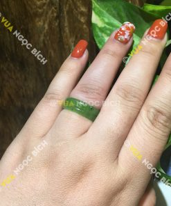 Nhẫn Bầu Ngọc Bích Nephrite Jade Cỡ Nhỏ (NN041)