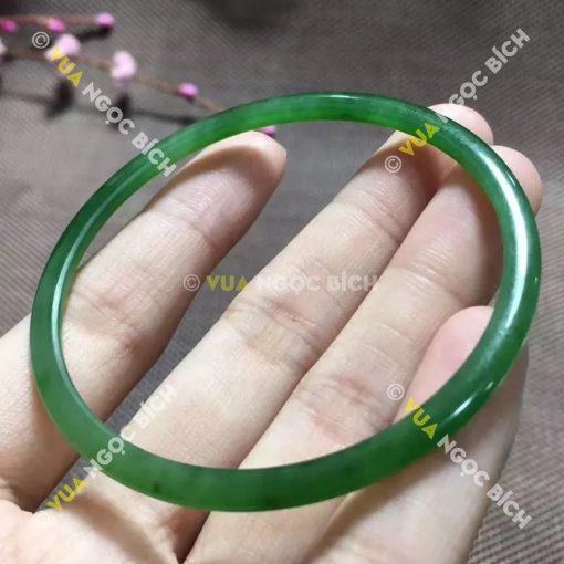 Vòng Tay Ngọc Bích Nephrite Jade Bản Liền (VT024)
