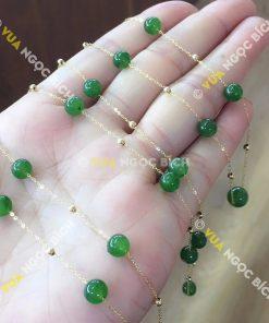 Vòng Cổ Ngọc Bích Nephrite Jade (VT023)