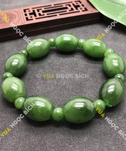 Chuỗi Vòng Tay Lu Thống Ngọc Bích Nephrite Jade (VT022)