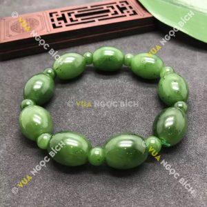 Chuỗi Vòng Tay Lo Thống Ngọc Bích Nephrite Jade (VT022)