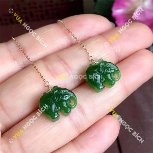 Bông Tai Ngọc Bích Nephrite Jade (BT068)