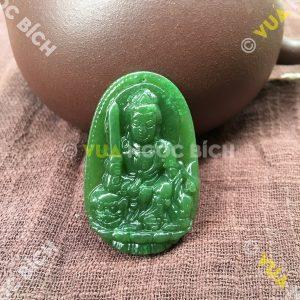 Phật Bản Mệnh Bồ Tát Văn Thù Ngọc Bích Nephrite Jade(MD093)