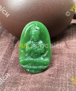 Phật Bản Mệnh Phổ Minh Đại Nhật Như Lai Ngọc Bích Nephrite Jade (MD095)