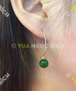 Bông Tai Ngọc Bích Nephrite Jade (BT072)