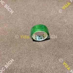 Nhẫn Càn Long Ngọc Bích Nephrite Jade Bọc Bạc Lòng Nhẫn (NN044)