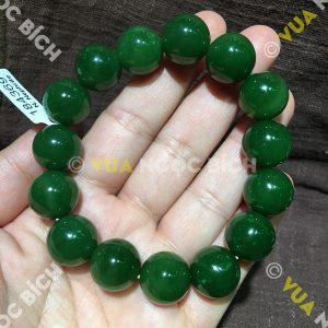 Vòng Tay Ngọc Bích Nephrite Jade 14mm VIP (VT027)