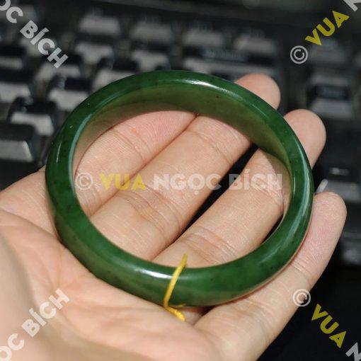 Vòng Tay Ngọc Bích Nephrite Jade Bản Liền (VT033)