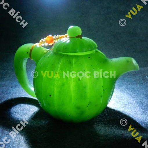 Ấm Trà Ngọc Bích Nephrite Jade (VPPT003)