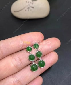 Bông Tai Ngọc Bích Nephrite Jade (BT090)