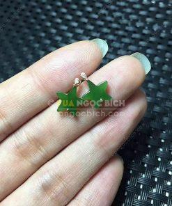 Bông Tai Ngọc Bích Nephrite Jade (BT091)