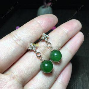 Bông Tai Ngọc Bích Nephrite Jade (BT094)