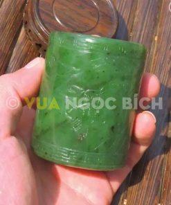 Ống Đựng Bút Ngọc Bích Nephrite Jade (VPPT002)