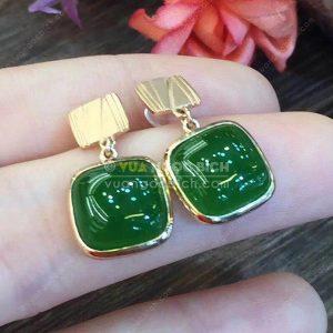 Bông Tai Ngọc Bích Nephrite Jade (BT100)