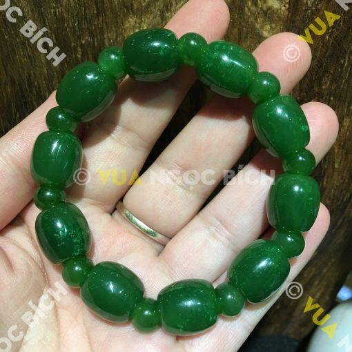 Vòng Tay Lu Thống Ngọc Bích Nephrite Jade (VT060)