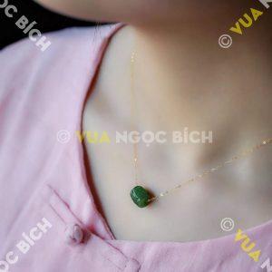 Mặt Dây Lu Thống Ngọc Bích Nephrite Jade (MD166)