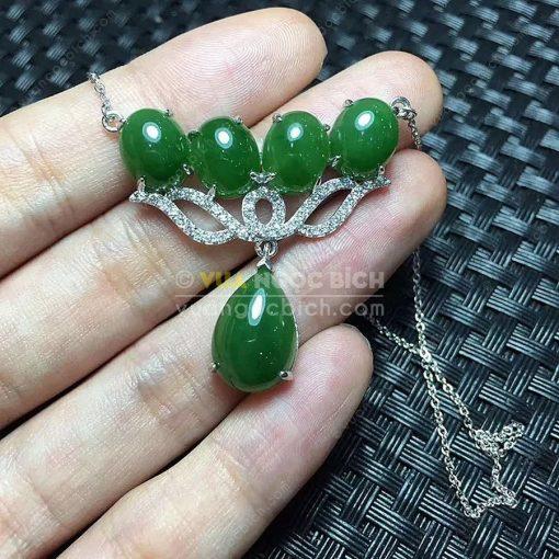 Mặt Dây Ngọc Bích Nephrite Jade (MD162)
