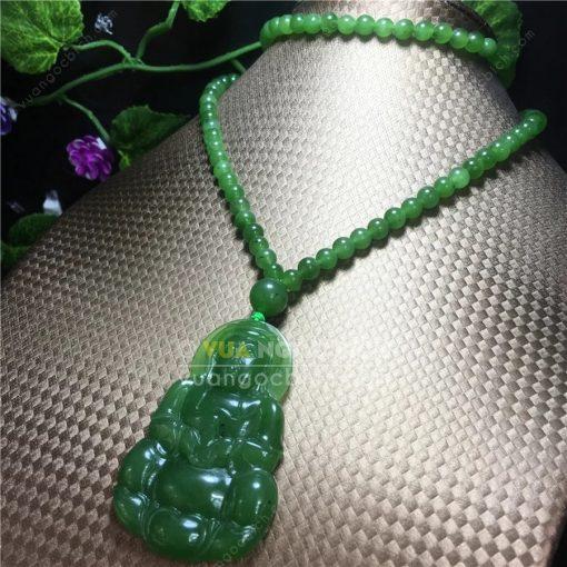 Mặt Dây Phật Quan Âm Ngọc Bích Nephrite Jade (MD170)