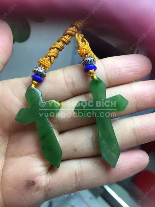 Mặt Dây Thánh Giá Ngọc Bích Nephrite Jade (MD172)
