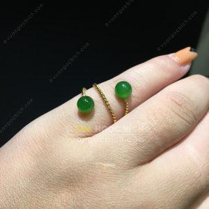 Nhẫn Bi 6mm Ngọc Bích Nephrite Jade (NN067)