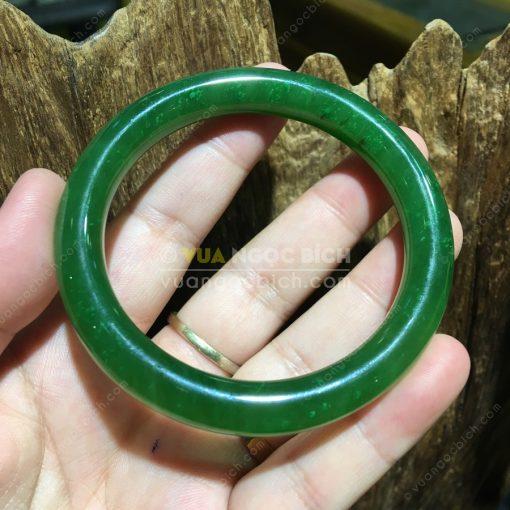 Vòng Tay Bản Liền Ngọc Bích Nephrite Jade (VT032-1)