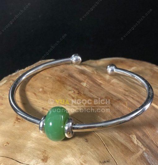Vòng Tay Lu Thống Ngọc Bích Nephrite Jade (VT059)
