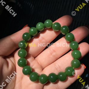 Vòng Tay Ngọc Bích Nephrite Jade 10mm VIP (VT050)
