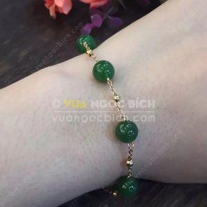Vòng Tay Ngọc Bích Nephrite Jade 10mm (VT062)