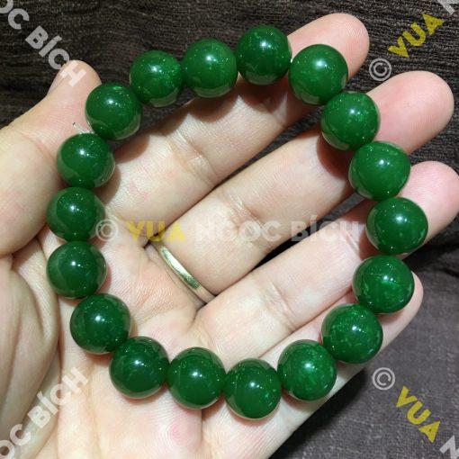 Vòng Tay Ngọc Bích Nephrite Jade 12mm VIP (VT052)