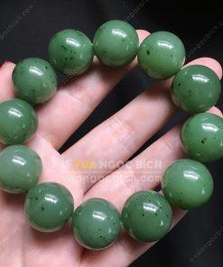 Vòng Tay Ngọc Bích Nephrite Jade 16mm (VT056-1)