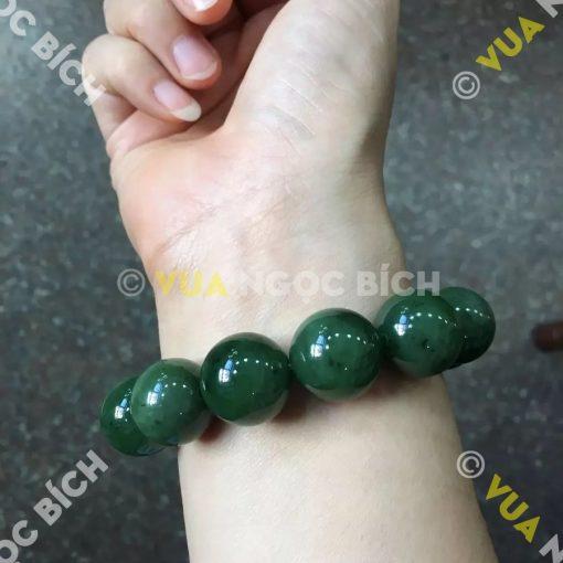 Vòng Tay Ngọc Bích Nephrite Jade 16mm (VT056)