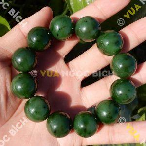 Vòng Tay Ngọc Bích Nephrite Jade 18mm (VT065)
