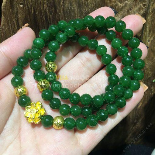 Vòng Tay Ngọc Bích Nephrite Jade 6mm VIP (VT064-2)