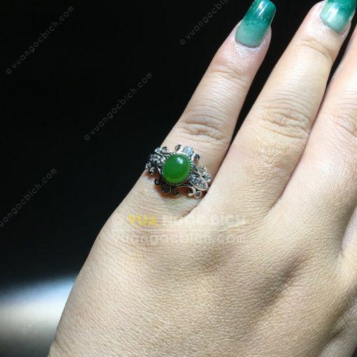 Nhẫn Ngọc Bích Nephrite Jade (NN075)