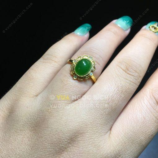 Nhẫn Ngọc Bích Nephrite Jade (NN077)