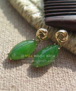 Bông Tai Ngọc Bích Nephrite Jade (VNB-BT197)