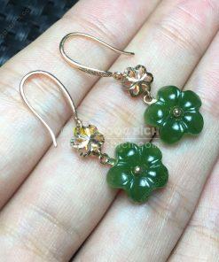 Bông Tai Ngọc Bích Nephrite Jade (VNB-BT199)