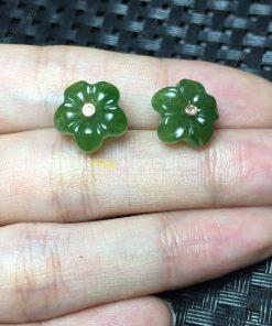 Bông Tai Ngọc Bích Nephrite Jade (VNB-BT201)
