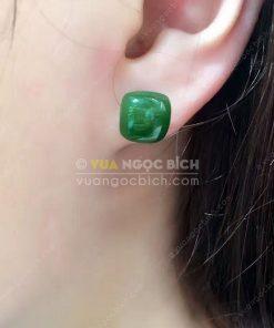 Bông Tai Ngọc Bích Nephrite Jade (VNB-BT203)