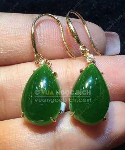 Bông Tai Ngọc Bích Nephrite Jade (VNB-BT204)