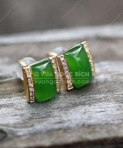 Bông Tai Ngọc Bích Nephrite Jade (VNB-BT206)
