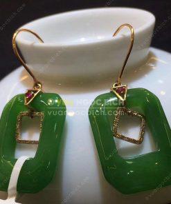 Bông Tai Ngọc Bích Nephrite Jade (VNB-BT207)